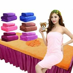 Adults Cotton Absorbent Bathroom Towel Sets SPA Face And Bat