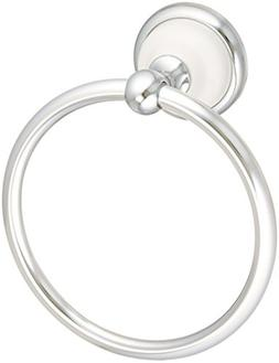 Bellini Towel Ring in Polished Chrome/White