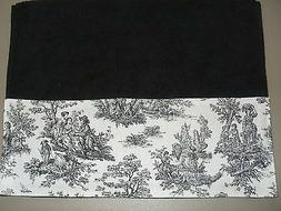 BLACK HAND TOWELS Black & White French Country Guest Toile B