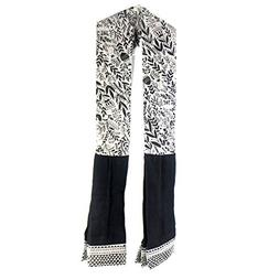 Demdaco Black and White Patterned Kitchen Towel Boa