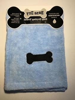 Blue Bone Dry Dog Towel Microfiber Fast Drying Embroidered B