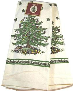 Set of 2 Spode Christmas Tree Kitchen Towels by Avanti Linen