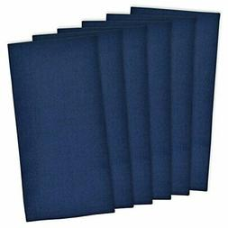 "DII Cotton Solid Flat Weave Dish Towels, 18 x 28"" Set of 6,"