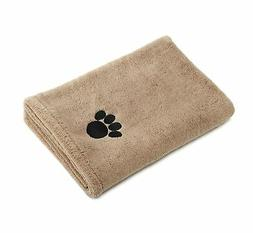 Bone Dry DII Microfiber Pet Bath Towel with Embroidered Paw