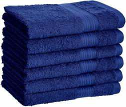 AmazonBasics Fade-Resistant Cotton Hand Towel - Pack of 6, N