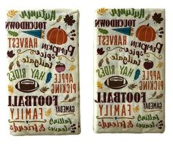 Fall Guest Towels 16 CT Buffet Paper Napkins Disposable 2 Pk