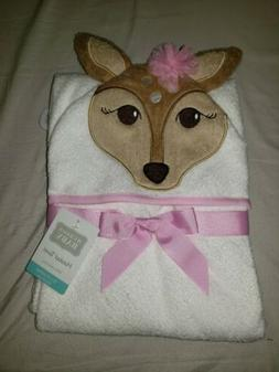 Hudson Baby Fawn Hooded Towel Brand New