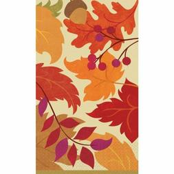 Festive Fall Autumn Leaves Thanksgiving Holiday Party Napkin