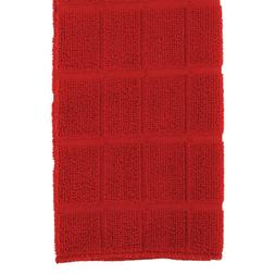 Home Collection Red Windowpane Pattern Kitchen Towels, 15x25