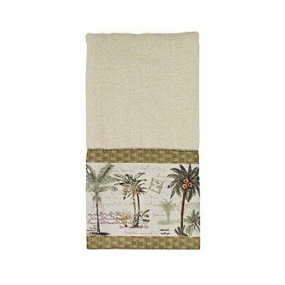 036684ivr colony palm finger towel medium ivory