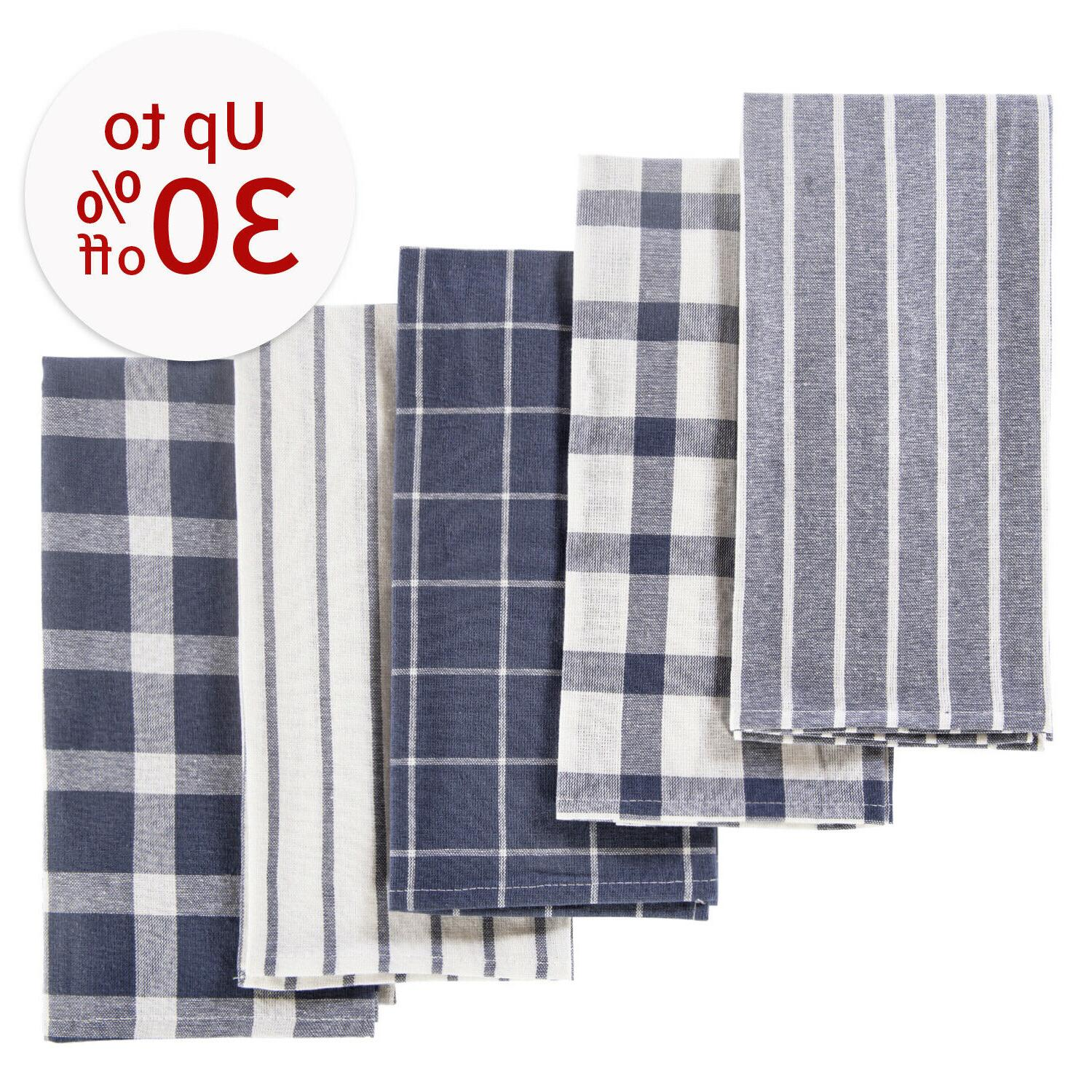 5 pack of dish towels absorbent cotton