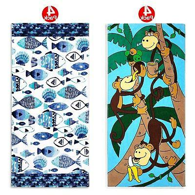 beach towel for kids 8 pack monkey