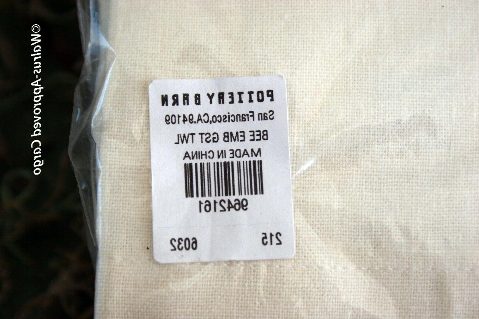 POTTERY BARN BEE GUEST TOWELS A FOR COOL DÉCOR