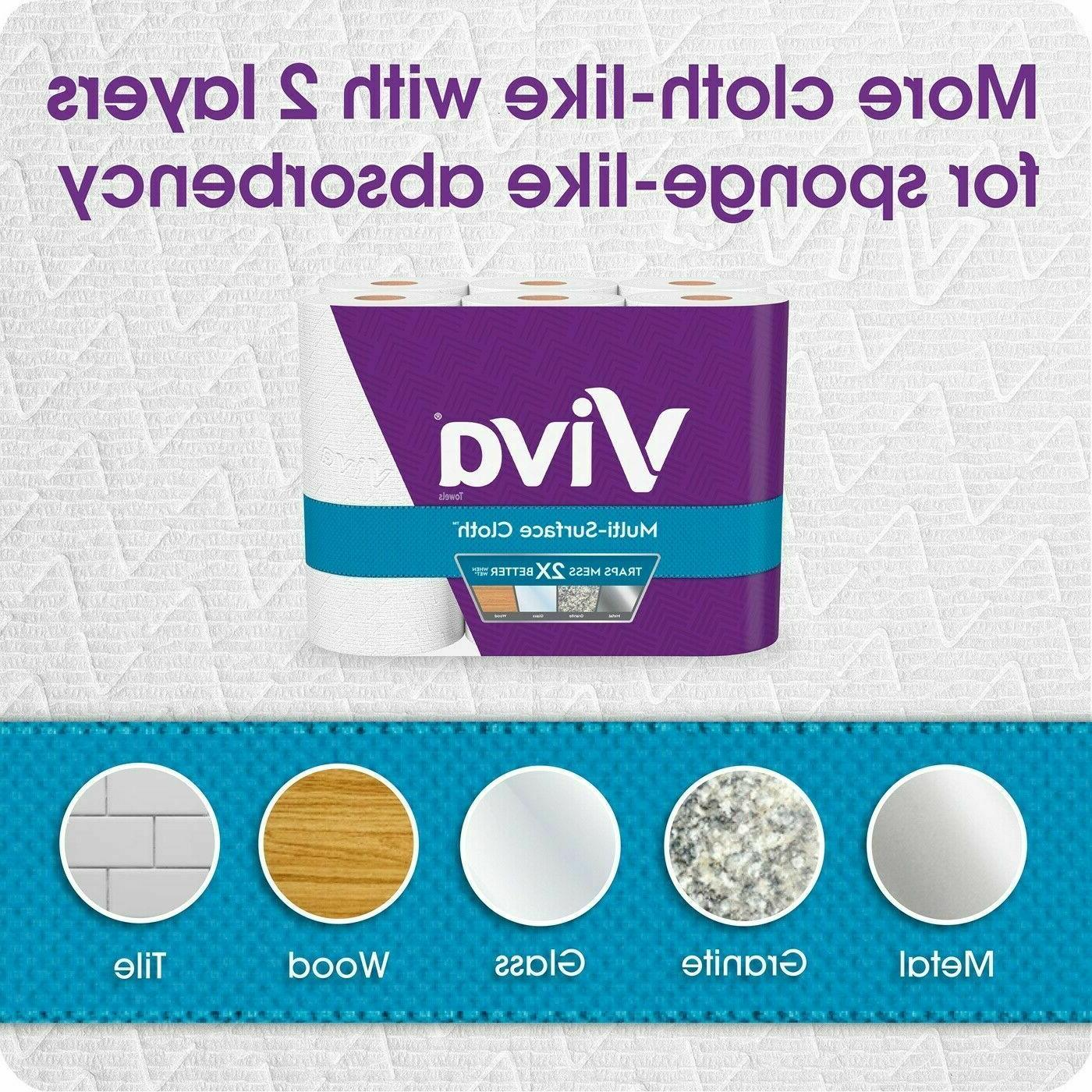 VIVA ROLL PAPER TOWELS 6 = 12 ROLLS - SHIPS PRIORITY