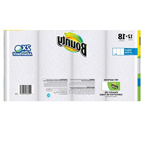 Bounty Paper Towels, White, 12