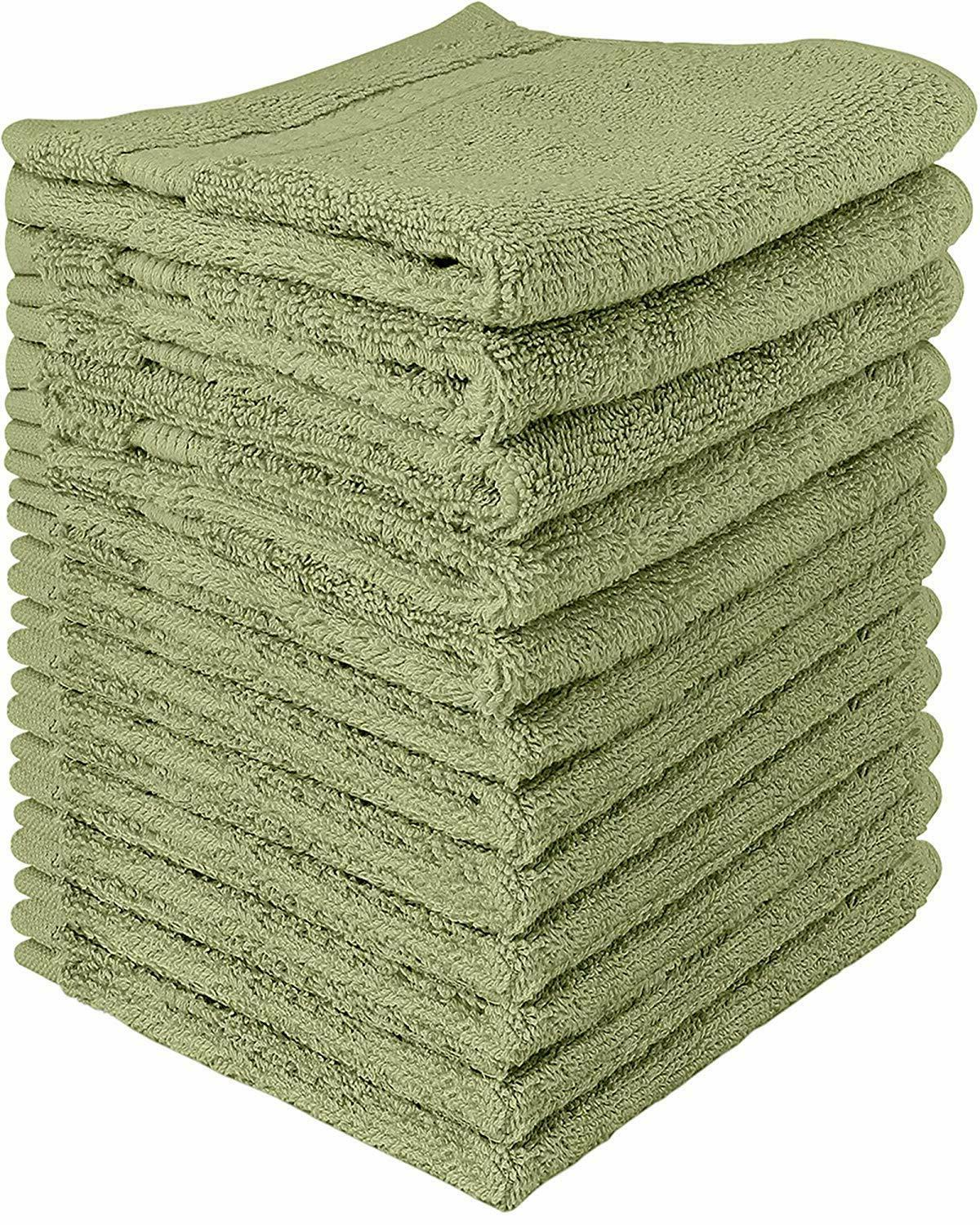 12 Luxury Cotton Washcloth Inch in Towels