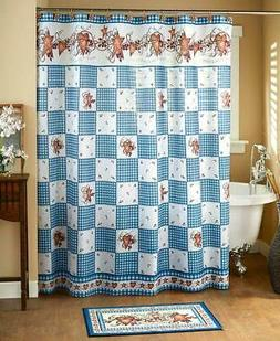 LINDA SPIVEY HEARTS AND STARS BATHROOM COLLECTION SHOWER CUR