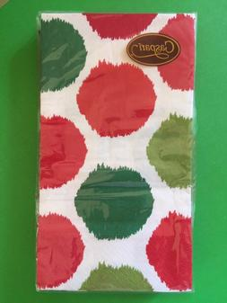 NEW 1 PKG CASPARI 3 Ply HAND GUEST TOWELS Holiday Everyday B