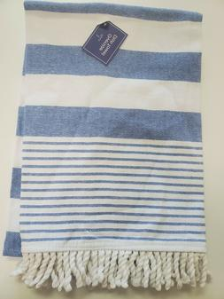 New!! 4 Count Oversize Dish Towels Blue and White with Tasse