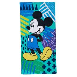 NWT Disney's Mickey Mouse Bath & Beach Towel 58x28 Blue/Gree