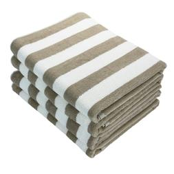 4 Pack of Cabana Beach Towels - 30 x 70 Extra Large Striped