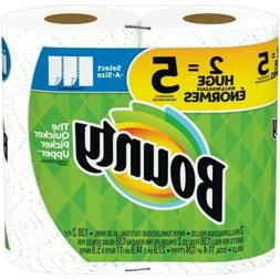 Bounty paper towels 2=5 Huge rolls Priority/Shipping