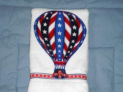 Patriotic Hand Towel Bath or Kitchen Flying High For Freedom