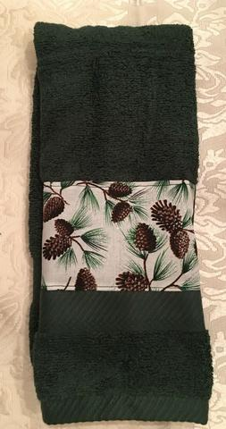 Pine Cones Towel - Great home Lodge Decor - Great gift for M