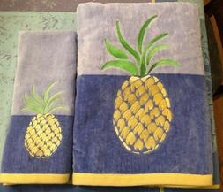 LILLY PULITZER Pineapple 4pc Towels Promenade Passion Embroi