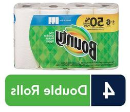 Bounty Select-A-Size Paper Towels, White, 4 Double Rolls = 6
