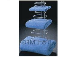 THREE GUEST TOWEL RACK FOR HOTELS OR GUEST BATH ROOMS/CO
